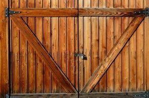podwójne garaże drewniane